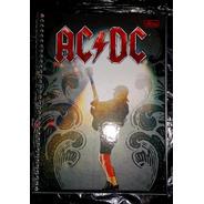 Ac/dc - Caderno 96 Folhas Com Adesivos