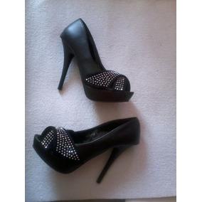 Zapato Negro Strass Fiesta Numero 37