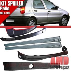 Kit Spoiler Palio 96 99 4 Portas Diant + Lateral C/tela #068