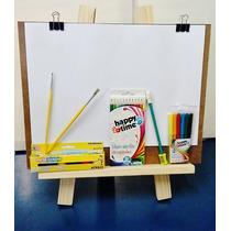 Kit Desenho E Pintura C/20folhas A3- Pinceis, Tintas, Lapis.