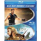 Gladiador Y Troy En Combo Blu Ray Original, Nuevo Sellado