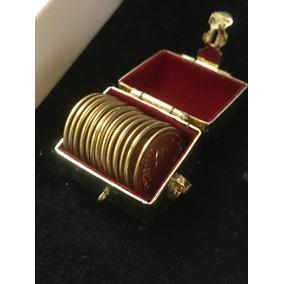Arras Maximiliano Grandes 2cm L Oro 14k Cofre De Baño Oro 24