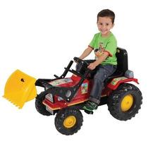 Trator Farmer C/ Pá Mini Veículo Infantil C/ Pedal Biemme
