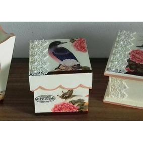 Caja Artesanales Pintada Decupage Y Otras Técnicas,