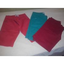 Bermudas De Jean Elastizado De Color T 44 Al 64 $ 550