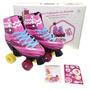 Patins Infantil Feminino 4 Roda Sou Luna Roller Skate Tam 36