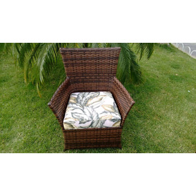 Cadeira Poltrona Em Vime Fibra Sintetica E Aluminio Jardim