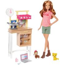 Boneca Barbie Veterinária - Zoológico Da Barbie Mattel