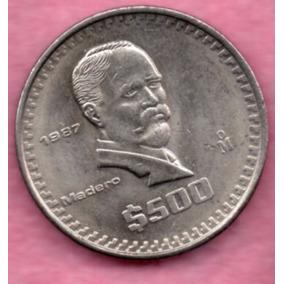 Moneda Antigua 500 Pesos Madero 1987 1c7