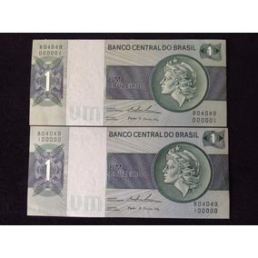 Cédulas De 1 Cruzeiro - Casal Perfeito-flor De Estampa-raro!