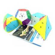 Pack 4 Cubos Rubik Qiyi Profesionales Envío Gratis
