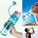 Caramañola Botella Deportiva Pulverizador Spray De Agua