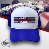 defced6f0ac7f Boné Martini Racing Azul E Branco Trucker Frete Grátis