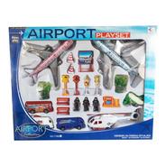 Kit Aeroporto Grande 22 Pcs Carrinhos, Aviões E Helicóptero