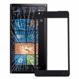 Para Nokia Lumia 900 Pantalla Frontal Exterior Lente Negro