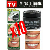 Pack 10 Miracle Teeth, Blanqurador Dental , Envio Gratis