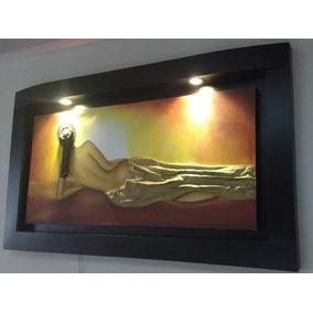 Pintura Oleo Tema Africa 2 Luces