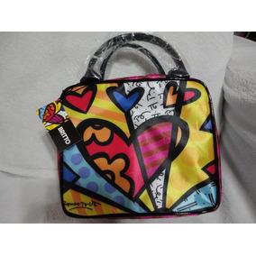 Romero Britto Bolsa Necessaire Cosmetic Bag Nova