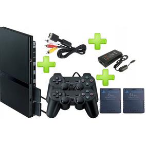 Playstation 2 Ps2 + 343 Juegos Dvd + 2 Controles + 2 Memory