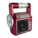 Bocina Radio Recargable Usb Lax Max 1831 Am-fm Lampara Rojo