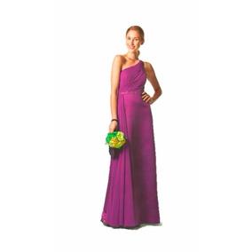 Lilasori Vestido De Fiesta Importado Color Fucsia Talla 7