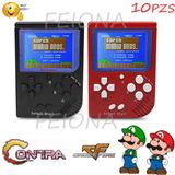 10pzs Consolas 188 En 1 Videojuegos Retro Clásico Mini 2.5in