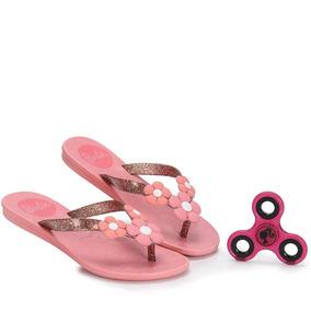 Tamanco Rasteiro Infantil Grendene Barbie - 25 Ao 32 - Rosa