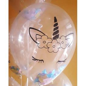 10 globos de latex ojos de unicornio de 12 pulgadas - Globos Transparentes