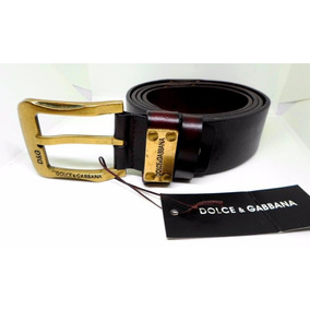 Cinto D & G - Made In Italy - 100 % Leather Coffee
