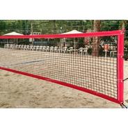 Rede De Beach Tennis Master Rede Oficial - Vermelha