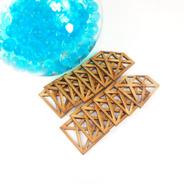 Paquete 100 Diamante Scrapbook Madera Mdf Manualidades
