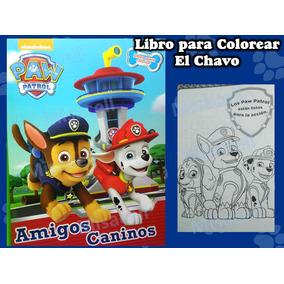 10 Libro Colorear Paw Patrol Recuerdos De Fiesta :)