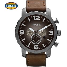 Reloj Fossil Cronógrafo Correa Marrón Jr1424 - 100% Original