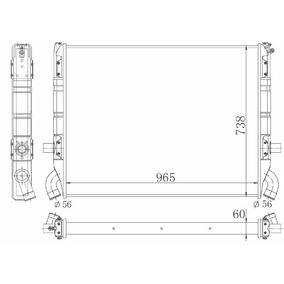 Radiador Scania 113-t 360cv Diesel 91 / 98 + / - M