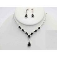 Collar Con Arete Black&white Cafu405-01 A20
