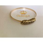 Bracelete Com Argolinhas Ouro 18k 750 Pulseira Feminina
