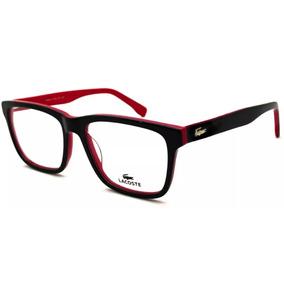 cc5e08b2ad Armacao Oculos De Grau Lacoste - Original Vermelho preto