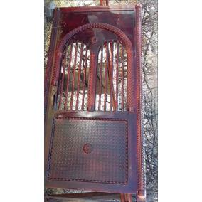 Puerta De Casa En Hierro Reforzado Estilo Medieval Tehuacan