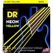 Encordoamento P/ Baixo De 5 Cordas Dr Neon - Amarela .40