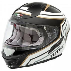 Capacete Tutto Moto Race Dourado C/ Óculos + Mega Brinde
