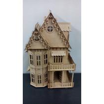 Casa Para Muñecas De Mdf Altura 71 Cm