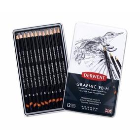 Set 12 Lápices Profesionales Para Dibujo De Grafito Derwent
