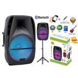 Bafle Amplificado 15 Pulgadas Bluetooth Recargable C/tripie