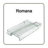 Telha Romana R13 Vidro Modelo R13 Medida 44x25 Cm