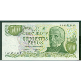 Billete Argentina 500 Pesos B#2420 Reposición S/c