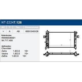 Radiador Astra Vectra Zafira 1.8/2.0 10/ C/ar Automatico