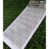 Strass Autohadesivo Plateado 3 4 5 Mm Falsos Cristales