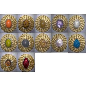 Brincos Mandalas De Capim Dourado Variados 10 Und