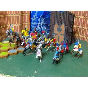 Lote 11 Fig Caballero & 11 Caballo Medieval Sin Edif Ve Desc