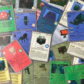 Kit 36 Pacotes De Cartas Minecraft Laminadas Brilho A174